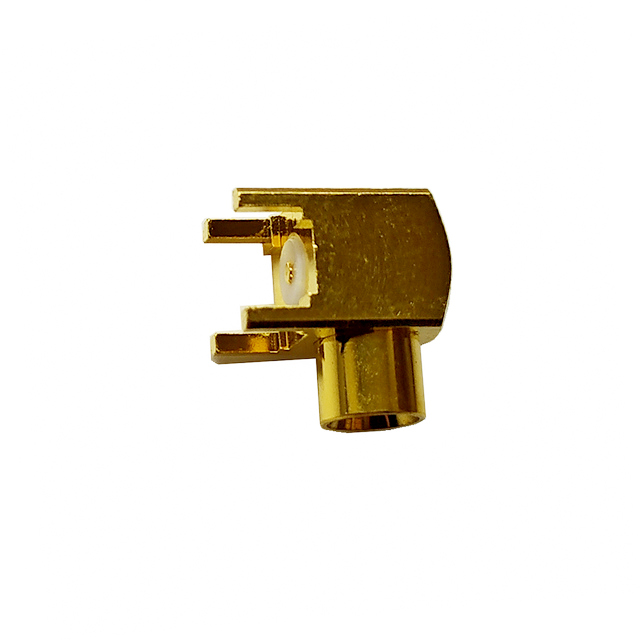 MCX jack right angle connector for pcb 50 ohm 5MXF25R-P41-006