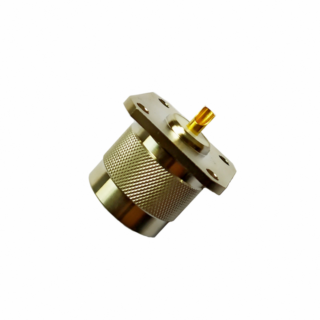 N plug straight connector 4 holes flange 50 ohm 5NCM85S-H41-002