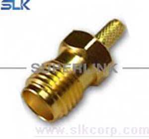 SMA jack straight crimp connector for RG174 RG316 cable bulkhead front mount 50 ohm 5MAF11S-A02-028