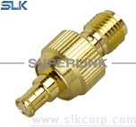 SMA female to MCX male straight adapter 50 ohm 5MAF06S-MXM-003