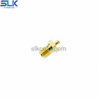 SMA jack straight solder connector for Tflex-405 cable bulkhead front mount 50 ohm 5MAF15S-A82-005