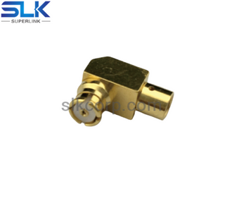 SMP jack right angle crimp connector for RG179/U cable 75 ohm 7SPF11R-A01