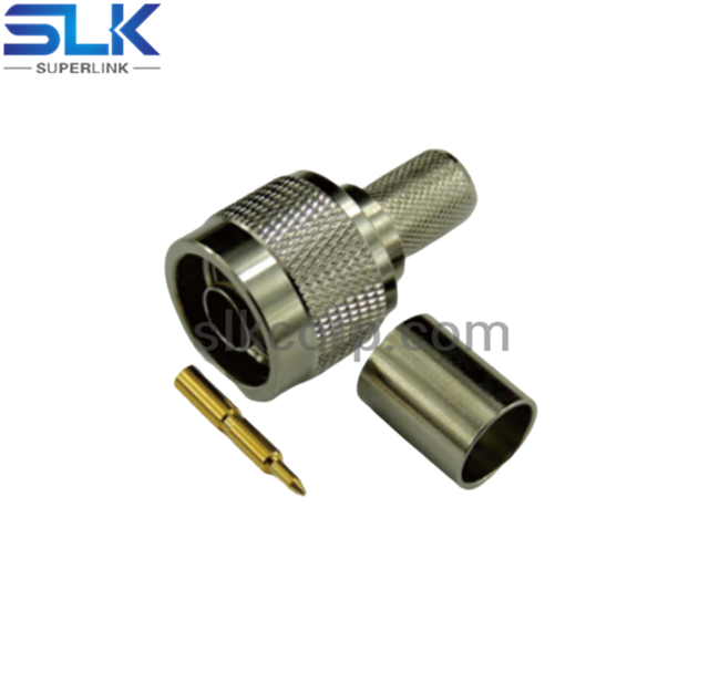 N plug straight crimp connector for LMR-400 cable 50 ohm 5NCM11S-A11-098