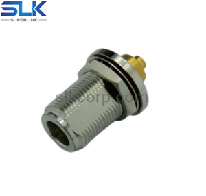 N jack straight solder connector for RG402/270-141 SXE cable bulkhead rear mount 50 ohm 5NCF35S-S02-005