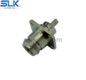 N jack straight connector 4 holes flange 50 ohm 5NCF85S-H41-012