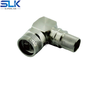 N plug right angle crimp connector for LMR-400 cable 50 ohm 5NCM11R-A11-040