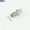 SMA plug straight crimp connector for TCOM-200 cable 50 ohm 5MAM11S-A200-004