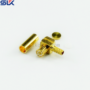 MMCX plug right angle crimp connector for RG316D cable 50 ohm 5MCM11R-A50-005