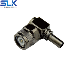 TNC plug right angle crimp connector for LMR-200 cable 50 ohm 5TCM11R-A08-003