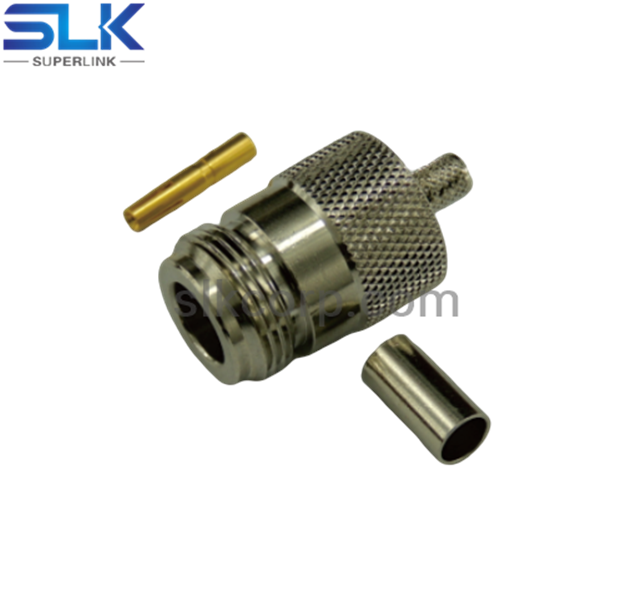 N jack straight crimp connector for RG58 LMR195 LMR195-LLPL cable 50 ohm 5NCF11S-A45-014