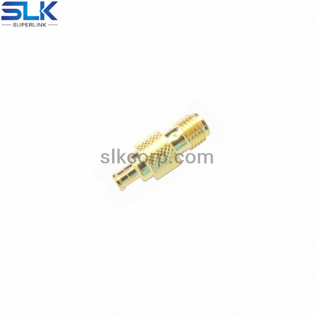 SMA female to MCX male straight adapter 50 ohm 5MAF06S-MXM