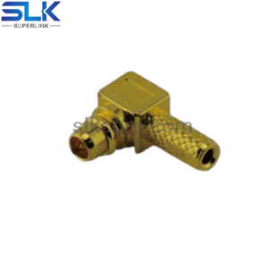 MMCX plug right angle crimp connector for RG178 RG196 cable 50 ohm 5MCM11R-A03-022