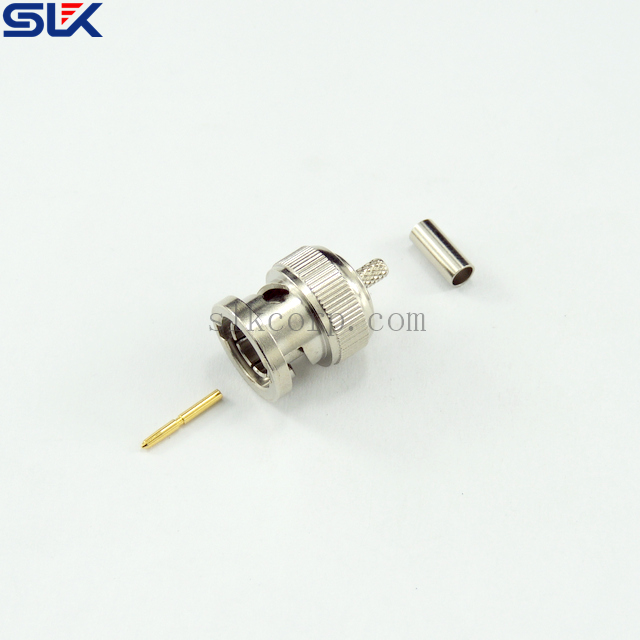BNC plug straight crimp connector for RG58A/U cable 50 ohm 5BNM11S-A00-013