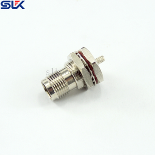 TNC jack straight crimp connector for FELEX 178D cable bulkhead rear mount 50 ohm 5TCF31S-A227