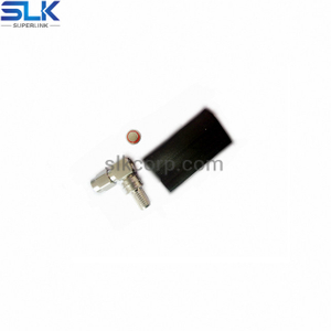 SMA plug right angle crimp connector for LMR-240 cable 50 ohm 5MAM11R-A46-012