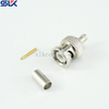 BNC plug straight crimp connector for RG316 cable 50 ohm 5BNM11S-A02-024