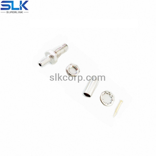 SMB jack straight connector bulkhead rear mount 50 ohm 5MBF11S-A00-001