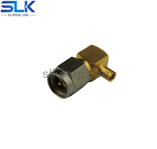 SMA plug right angle solder connector for .RG402 cable 50 ohm 5MAM15R-S01-001