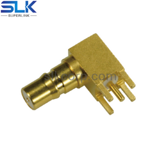 QMA jack right angle connector for pcb 50 ohm 5QAF25R-P01-001