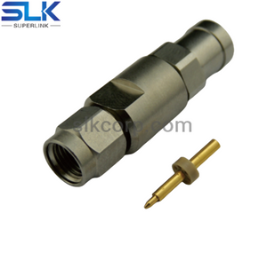 3.5mm plug straight solder connector for SLB-540 cable 50 ohm 5P3M15S-A587