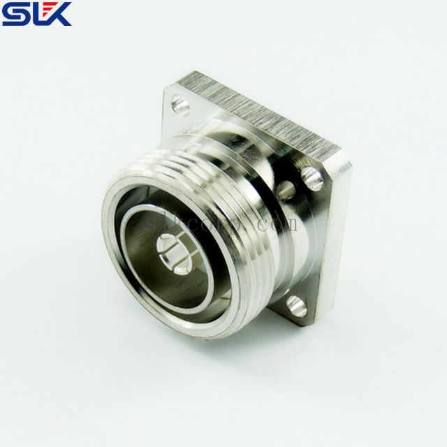 7/16 jack straight connector 4 holes flange 50 ohm 5A7F55S-P01-019