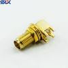 SMA jack right angle connector for pcb through hole 50 ohm 5MAF25R-P41-018