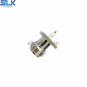 N jack straight connector 4 holes flange 50 ohm 5NCF85S-H41-011
